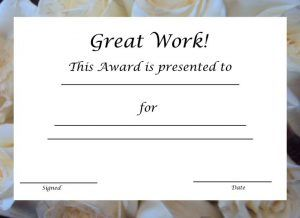 great job work printable certificate template certificate