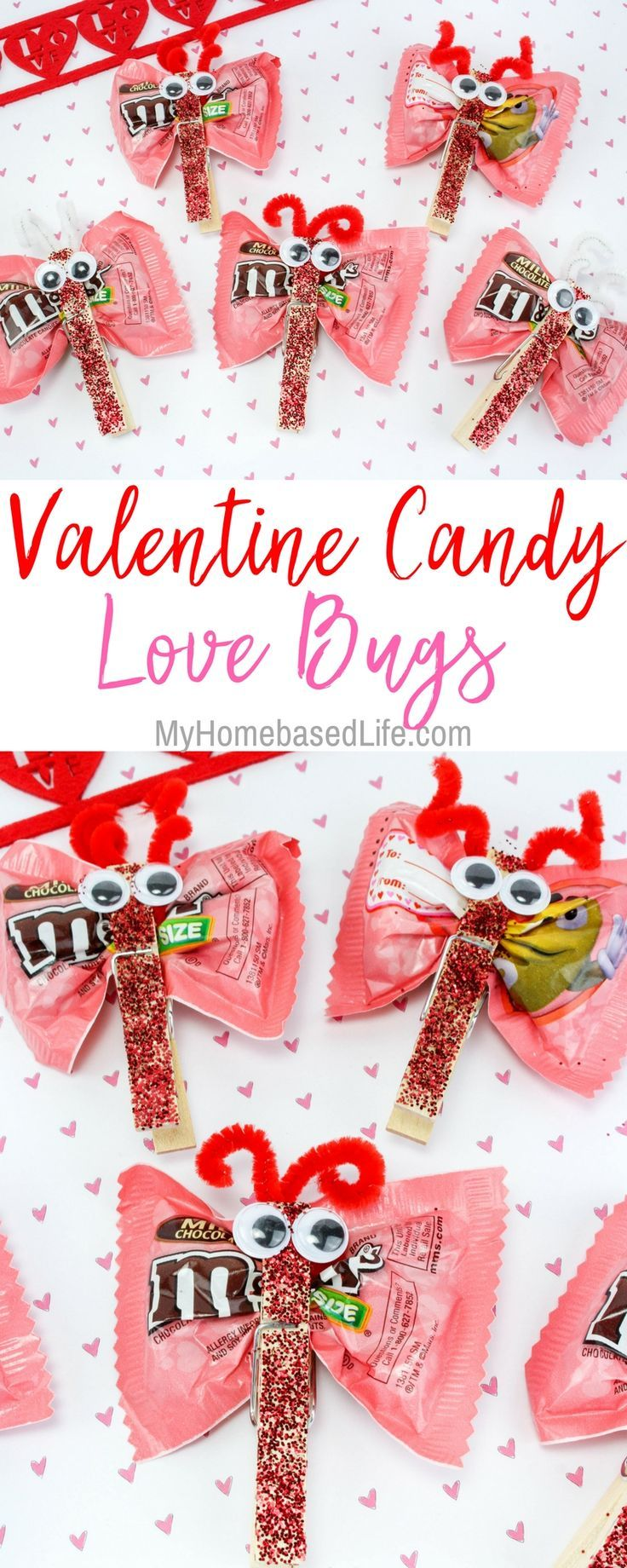 A great diy for kids that they can take to school and share with a great diy for kids that they can take to school and share with classmates valentine candy love bugs craft is the way to go for kid approved fun kristyandbryce Gallery