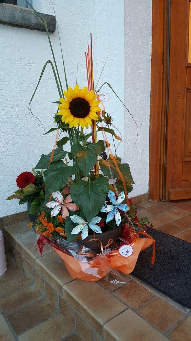 Geldgeschenk Sonnenblume Ideen Geldgeschenke