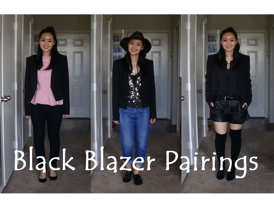 These are my personal top 3 blazer outfit pairings that I love  to wear. You can see these outfits in action at https://www.youtube.com/watch?v=5mI7c9sM_K4