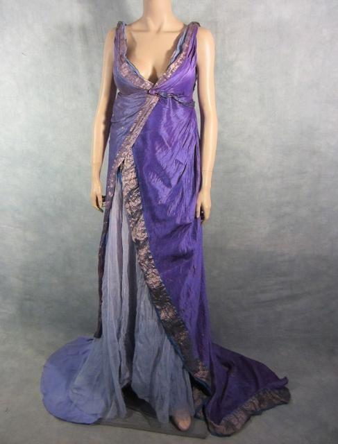 Spartacus screen worn female upper class roman gown coa | Spartacus ...