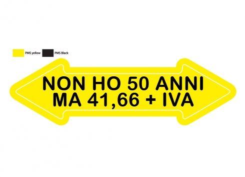 Freccia Non Ho 50 Anni Humor Buon Compleanno Buon