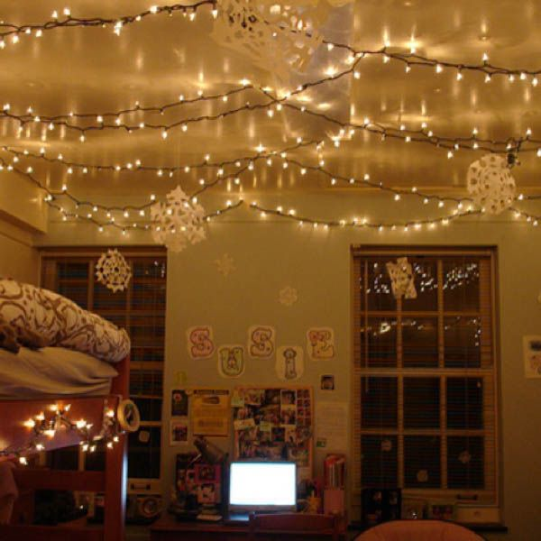 66 inspiring ideas for christmas lights in the bedroom college apartments college dorm rooms