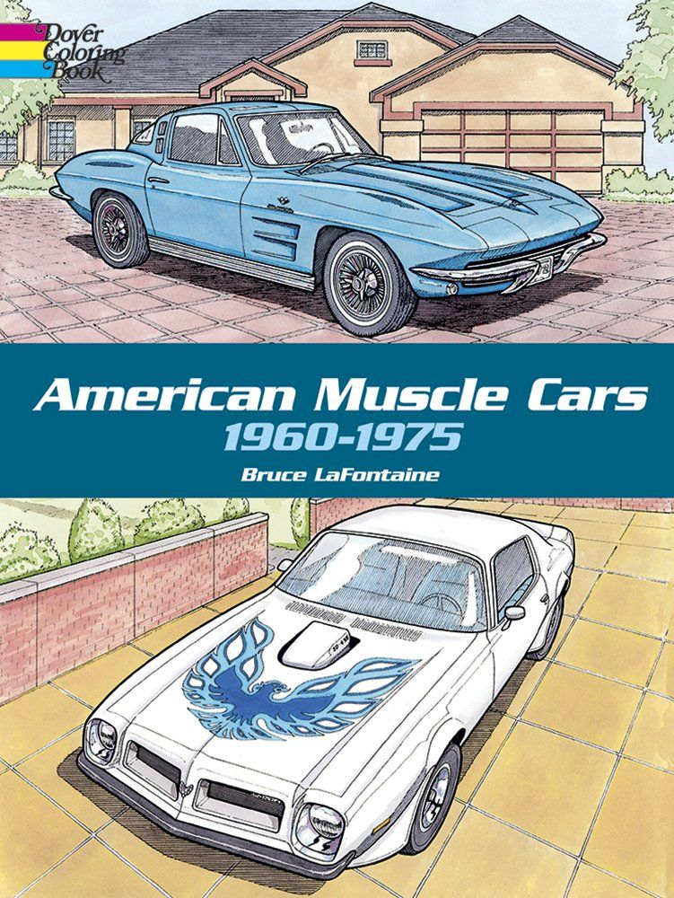 american muscle cars, 1960-1975 (dover history coloring book) price