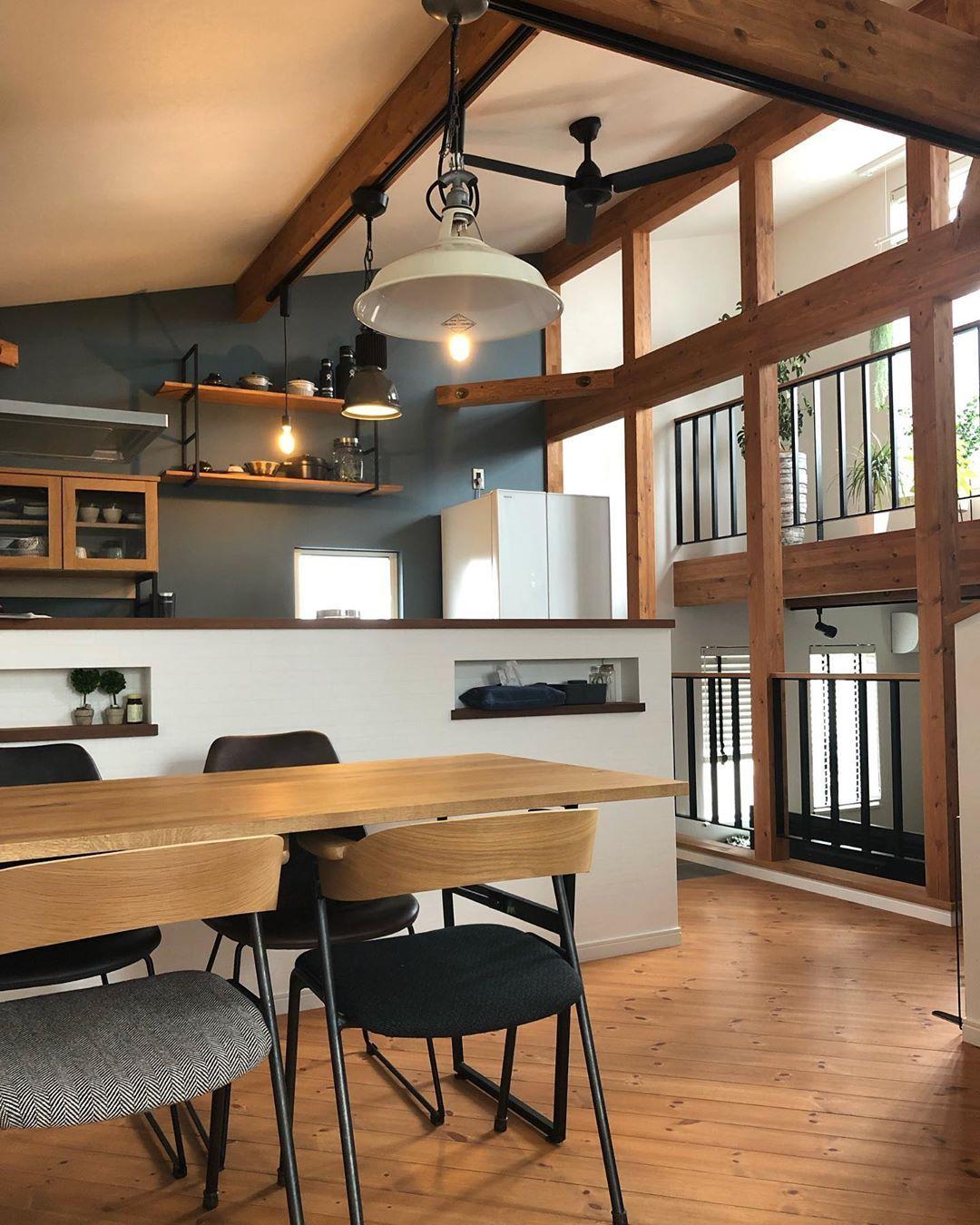 いいね 158件 コメント1件 Chestnut Homeさん Chestnut Mountain Home のinstagramアカウント おはようございます 今日も1日頑張りましょう リビング キッチン マンション インテリア ダイニングテーブルチェア