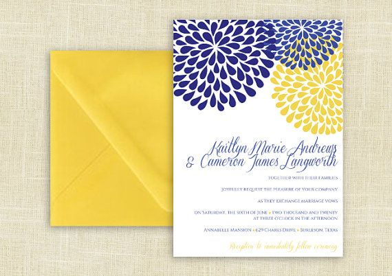 Diy Wedding Invitation Template Download By Diyweddingtemplates 8 00 Diy Wedding Invitations Templates Wedding Invitations Diy Yellow Wedding Invitations