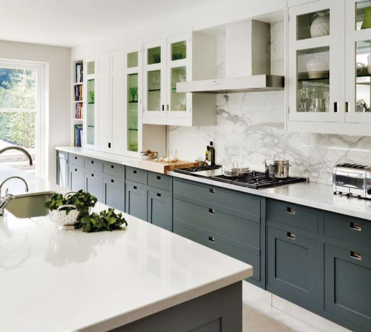 White Kitchen Cabinets With Gray Countertops: White Countertops Have Been On The Hot List For Awhile Now