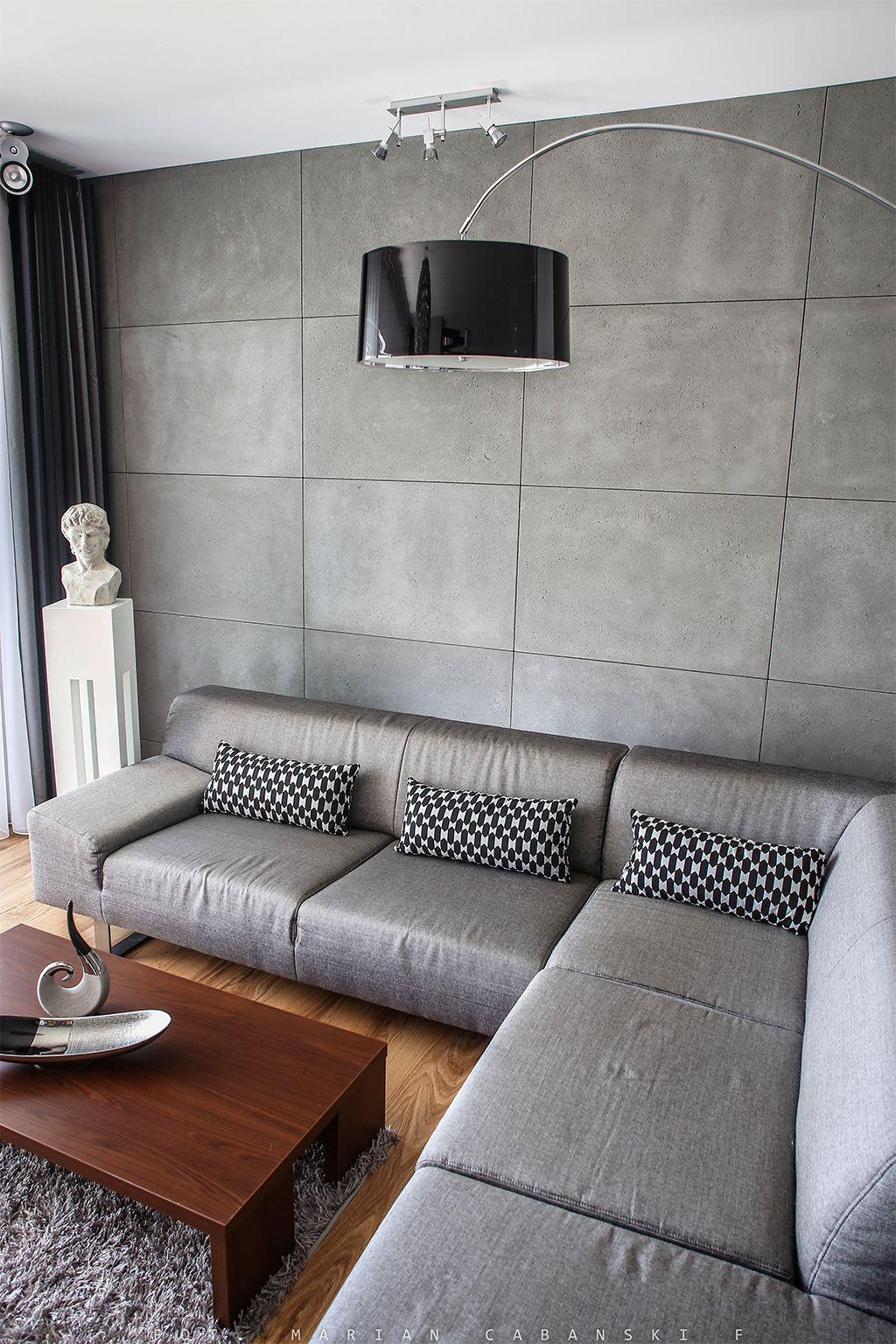 Concrete Plates Płyty Betonowe Home Room Design Concrete Interiors Concrete Walls Interior