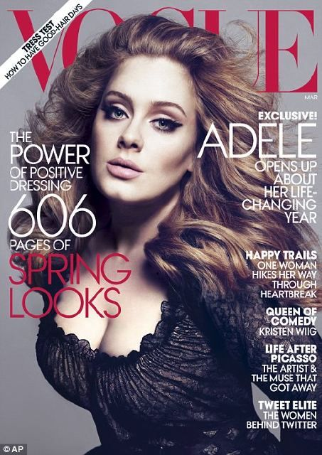 I think Adele is beautiful. She doesn't look like this.
