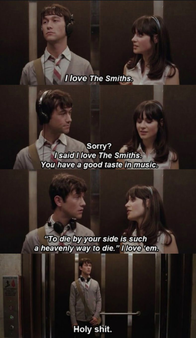 To Die By Your Side Is A Heavenly Way To Die 500daysofsummer