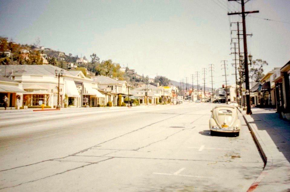 Sunset Strip Looking East West Hollywood Circa Mid 1950s
