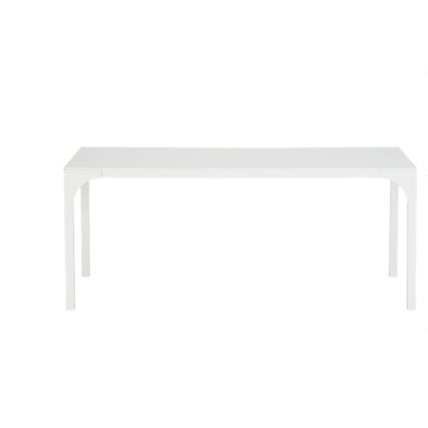 This is a CB2 Aqua Virgo Dining Table for $270 00 aqua virgo