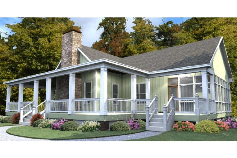 Ranch House Plan 1070