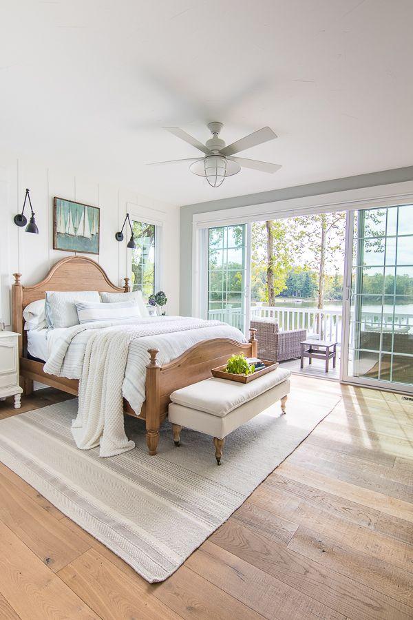 Lake House Master Bedroom Schlafzimmer Design Rustikales Schlafzimmer Haus Wohnzimmer