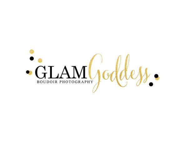 Gold Logo Design Premade Gold Foil Confetti Logo by fancybelle