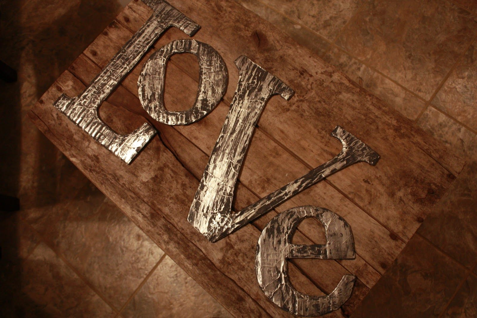 Metal Craft Letters Endearing Distressed Metal  Actually Cardboard Aluminum Foil And Paint Inspiration