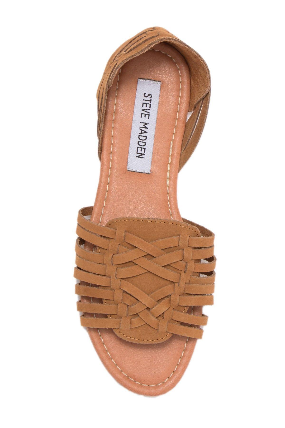 steve madden fiddle woven sandal