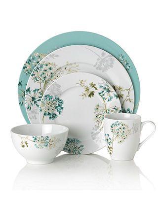 Mikasa Dinnerware Teal Silk Floral Collection - Casual Dinnerware - Dining \u0026 Entertaining - Macy\u0027s  sc 1 st  Pinterest & Mikasa Dinnerware Teal Silk Floral Collection - Casual Dinnerware ...