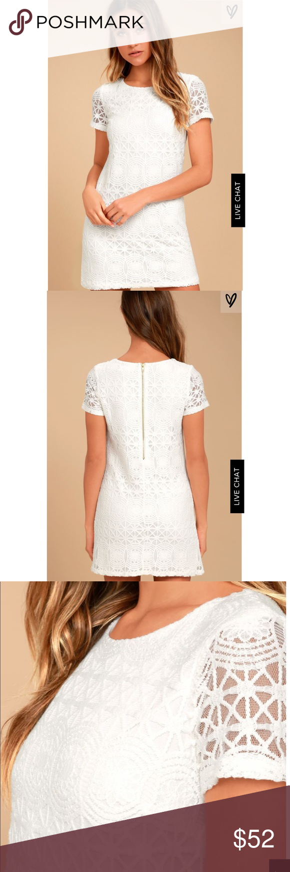 Lulus Love You For Eternity White Lace Shift Dress White Lace Shift Dress Lace Shift Dress Shift Dress [ 1740 x 580 Pixel ]
