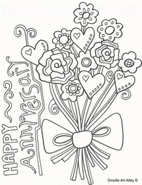 Anniversary Coloring Pages Doodle Art Alley Flower Coloring Pages Mothers Day Coloring Pages Coloring Pages Inspirational