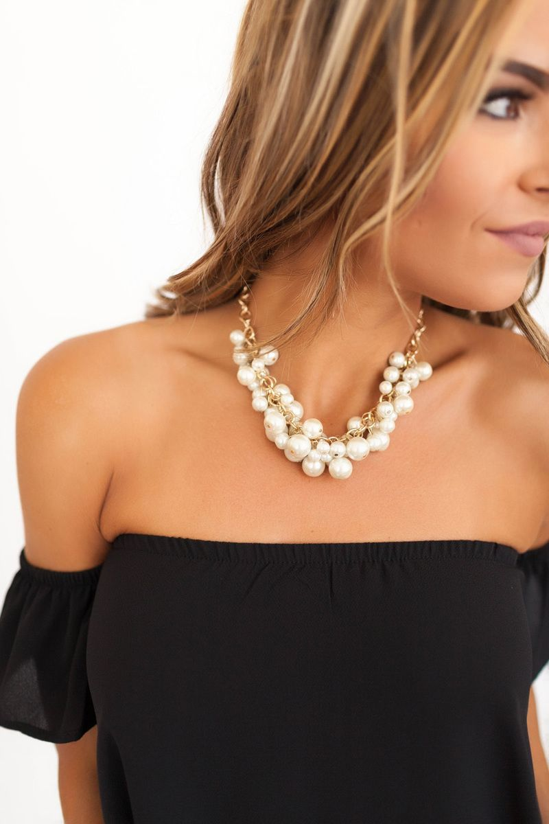 Pearl Statement Necklace - Dottie Couture Boutique