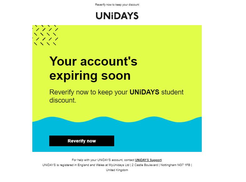 unidays account