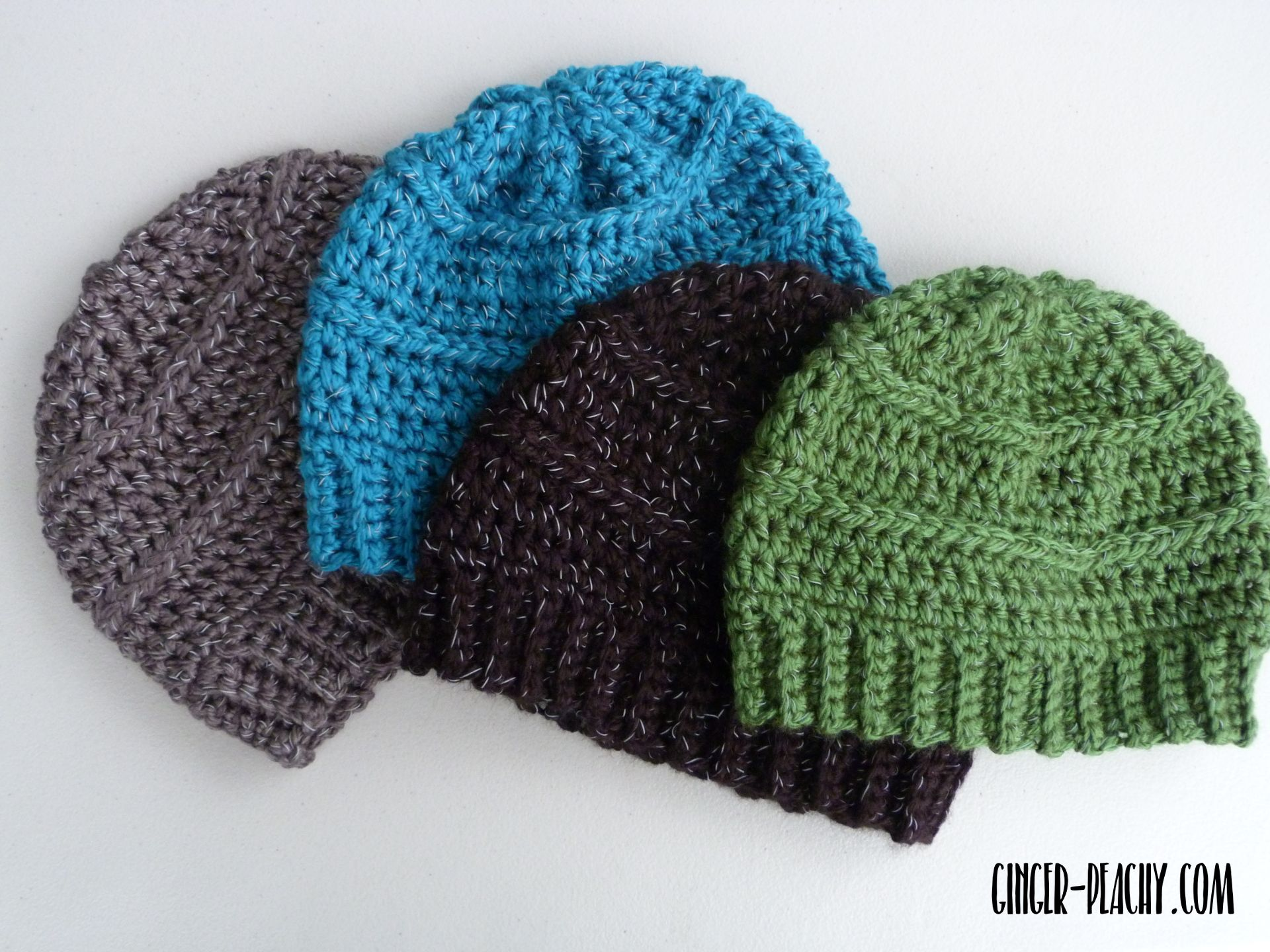 Reflective Cody Beanies in Four colors | Free Crochet Pattern at ...