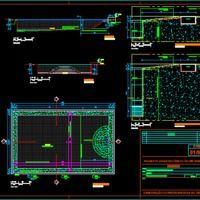 Swimming Pool Details Dwg Autocad Drawing