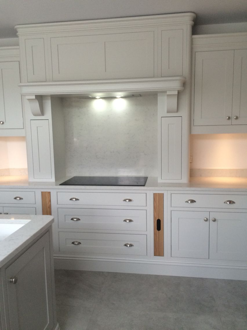 Classiccabinetry Co Uk Farrow Ball Purbeck Stone And Amonite With Silestone Lagoon Work Tops Kitchen Mantle Kitchen Cabinets Uk Kitchen Paint