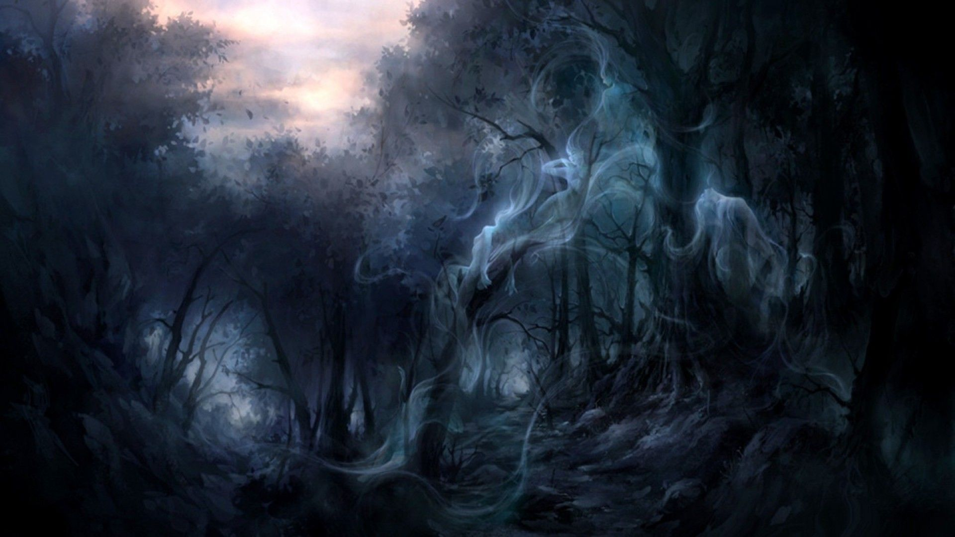 Dark Forest Wallpapers Wallpaper 1920×1080 Creepy Forest Backgrounds (35  Wallpapers) | Adorable
