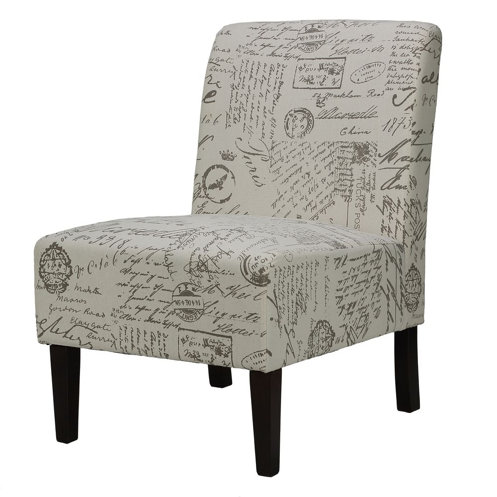 Cortesi Home Chicco Script Armless Accent Chair | Overstock.com Shopping    Great Deals On