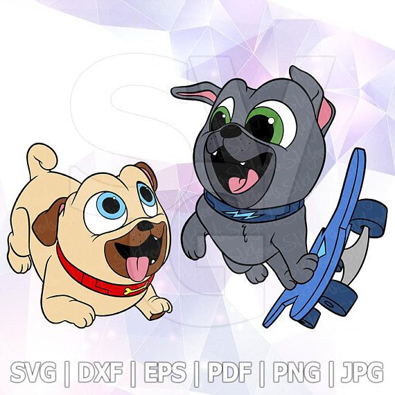 Rolly Bingo Skateboard Svg Layered Puppy Dog Pals Dxf Vector Cut