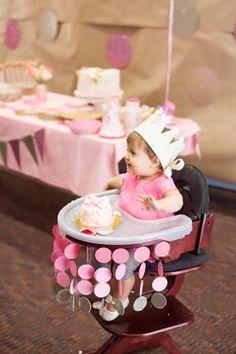 One Year Old Birthday Ideas Soft Pink