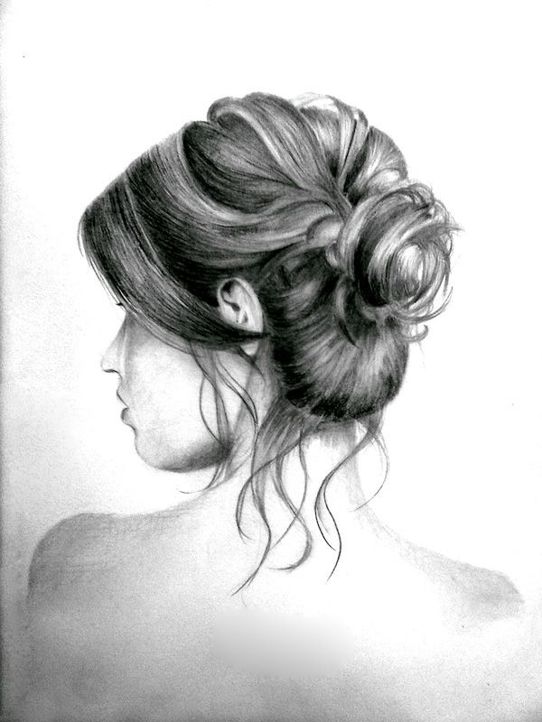 Messy Hair Bun By Kinannti On Deviantart Messy Bun Hairstyles How To Draw Hair Bun Hairstyles