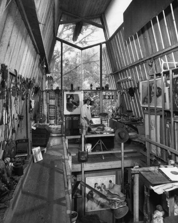 black and white photo of art studio - Google Search