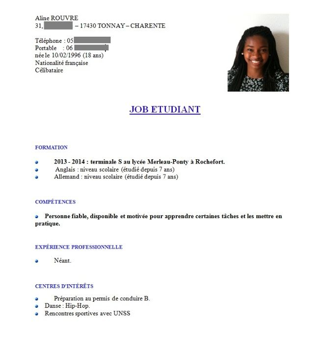 exemple cv terminale cv this or that
