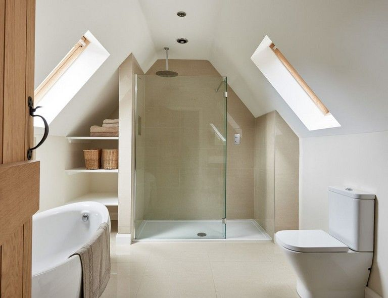 28 Amazing Genius Attic Bathroom Remodel Design Ideas Loft