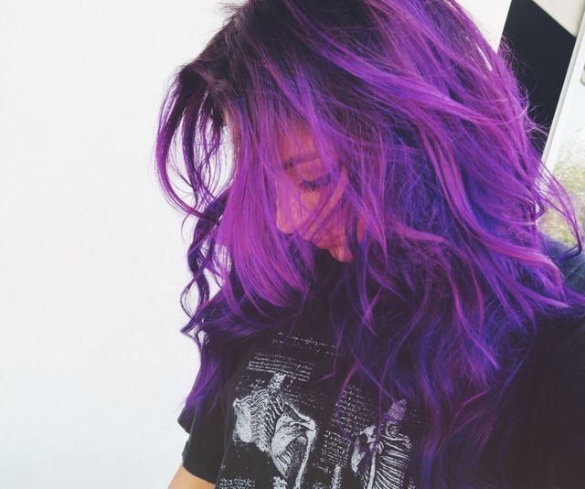 Every Time I Someone With This Hair Color My Mind Automatically Thinks It S Sasha Banks Purple Hair Hair Dyed Hair