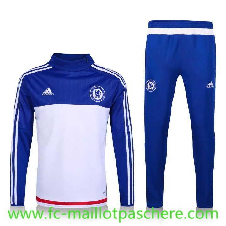 Chelsea 2016 White with Blue Men Tracksuit Slim Fit