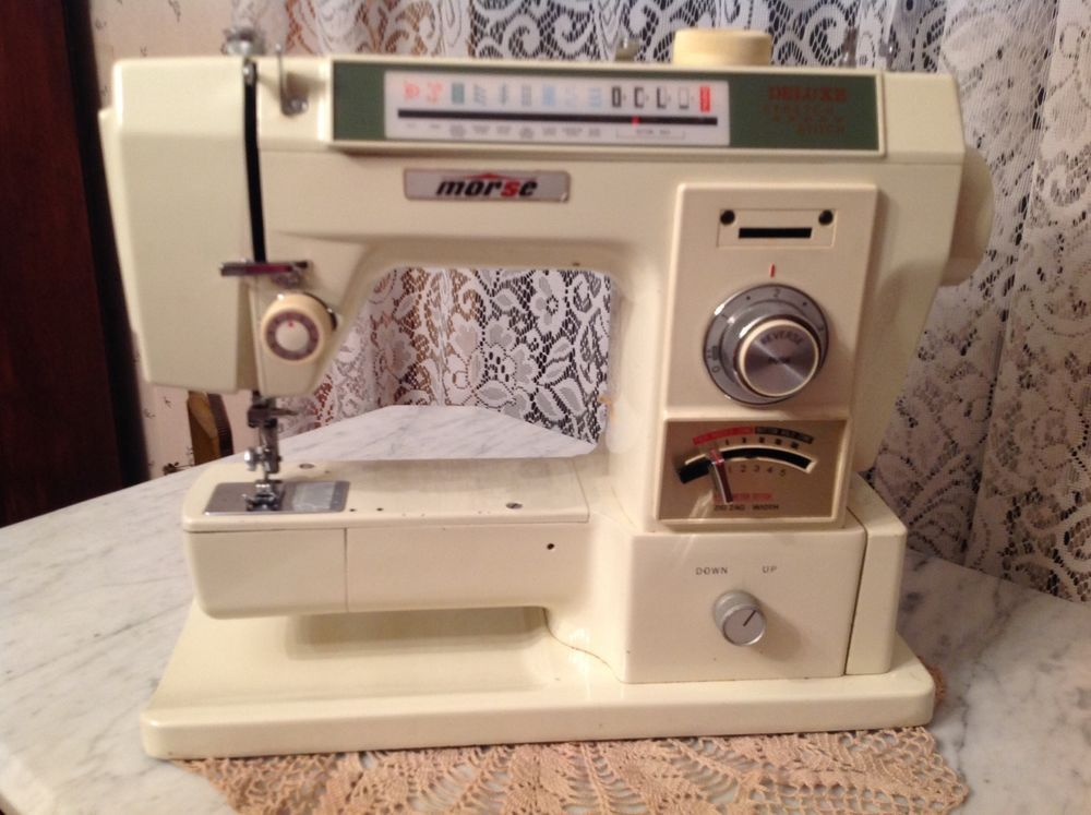 Vintage Morse Sewing Machine Model 40 Deluxe Stretch Stitch Best Super Stitch Sewing Machines