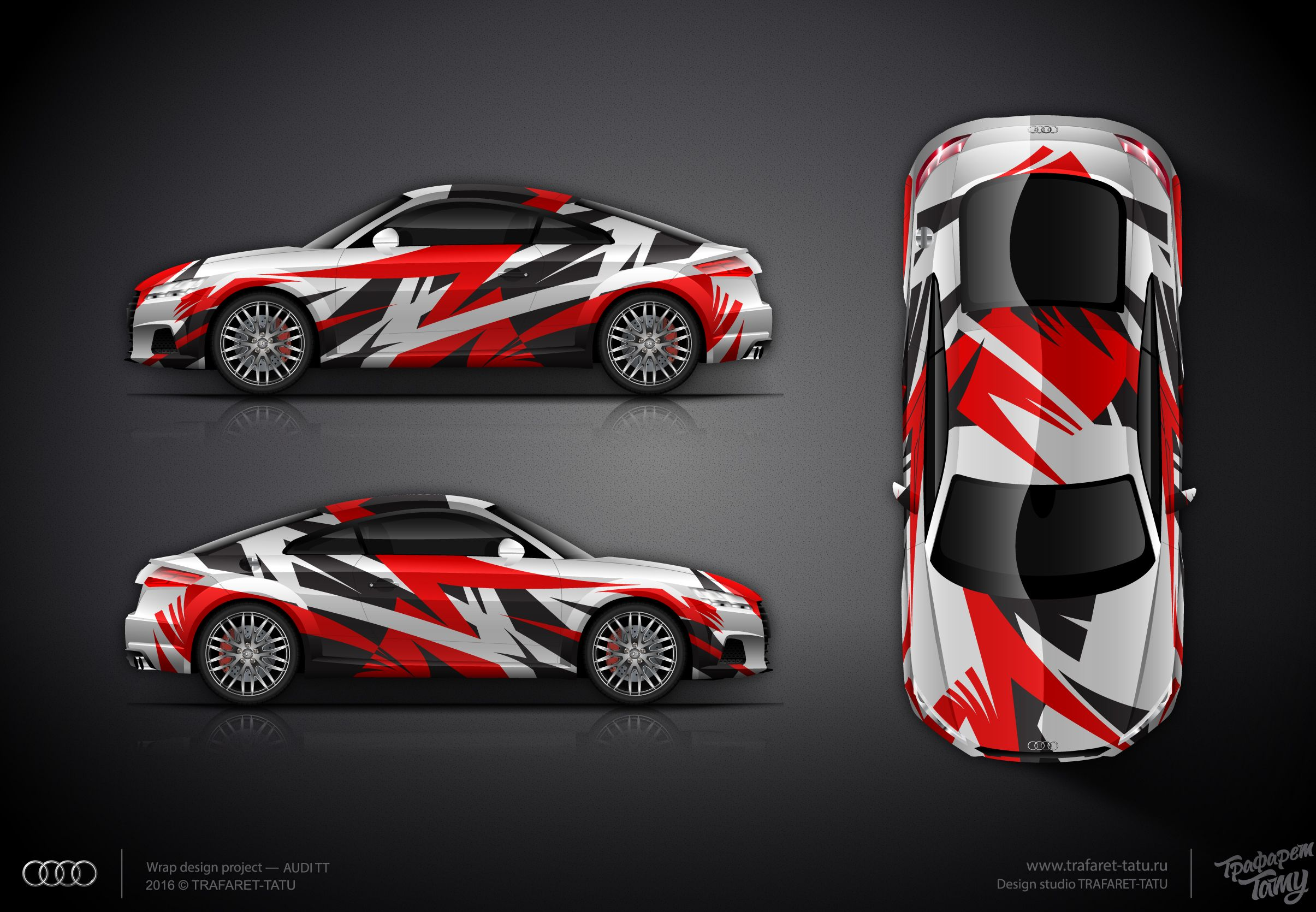 The approved wrap design for AUDI TT