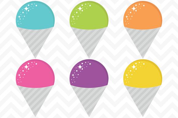 Clip Art Vector Snow Cones Snow Cones Clip Art Cones