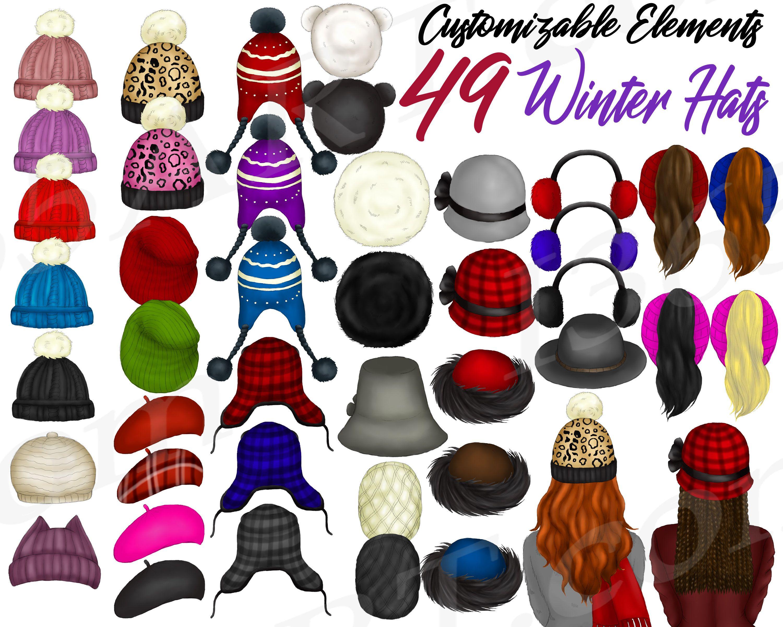 Best Friends Clipart Custom Winter Hats Clipart Winter Hats Etsy Winter Hats Winter Fashion Fashion