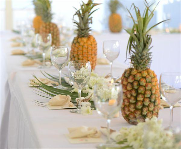 Centros de mesa pi as ideas decoracion 4 weddings - Centros de mesa con pinas ...