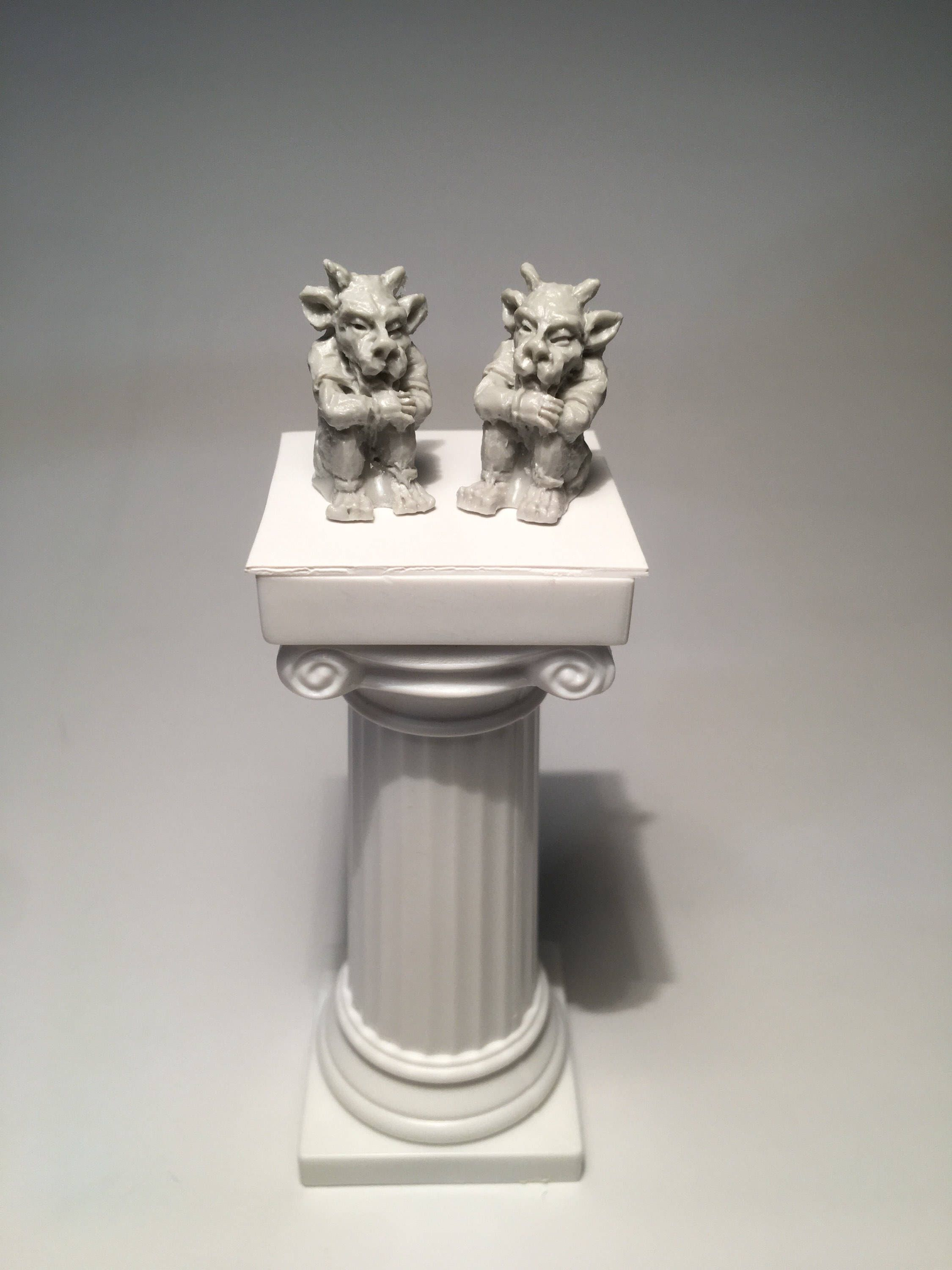NEW 3D PERCHED GARGOYLE MEDIEVAL WINGED GUARDIAN CASTLE PROTECTOR CHARM EARRINGS