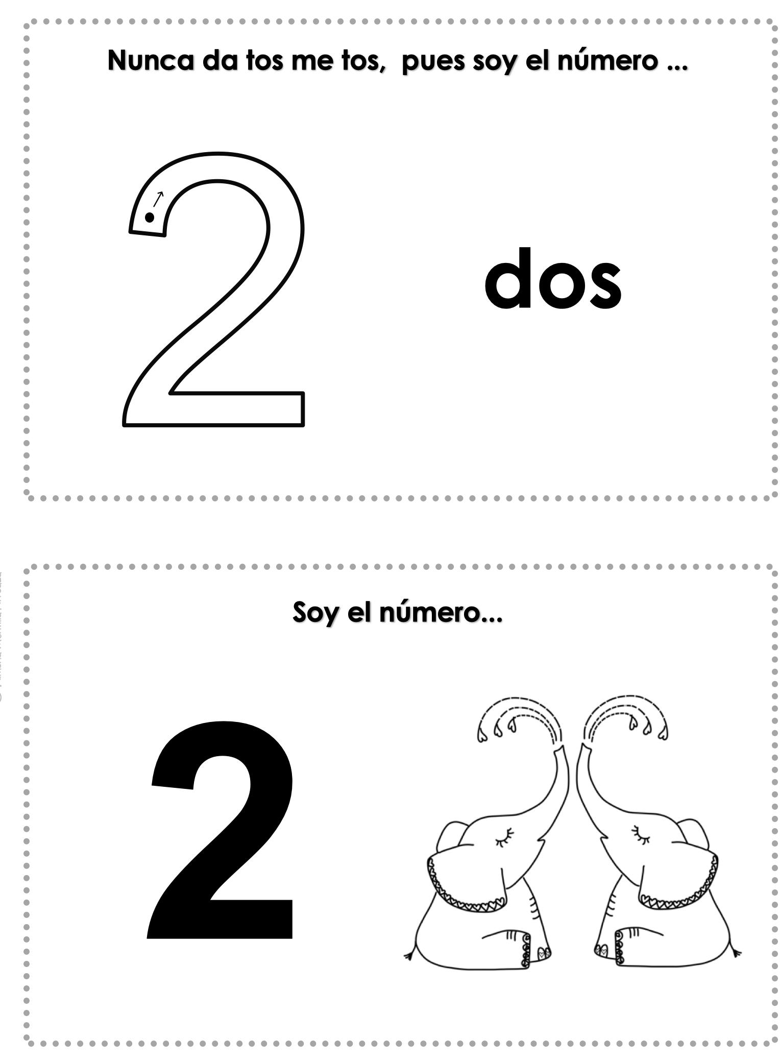 Los Numeros Mini Libro Espanol Spanish