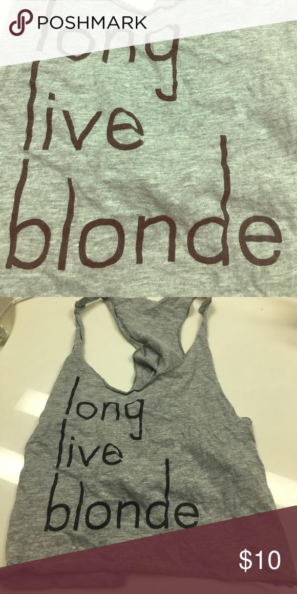 Crop top Long live blonde crop top Tops Crop Tops