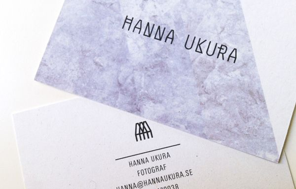 Logo and brand identity for hanna ukura by dalston bpo marble logo and business cards with marble pattern detail by dalston for swedish portrait and fashion photographer colourmoves