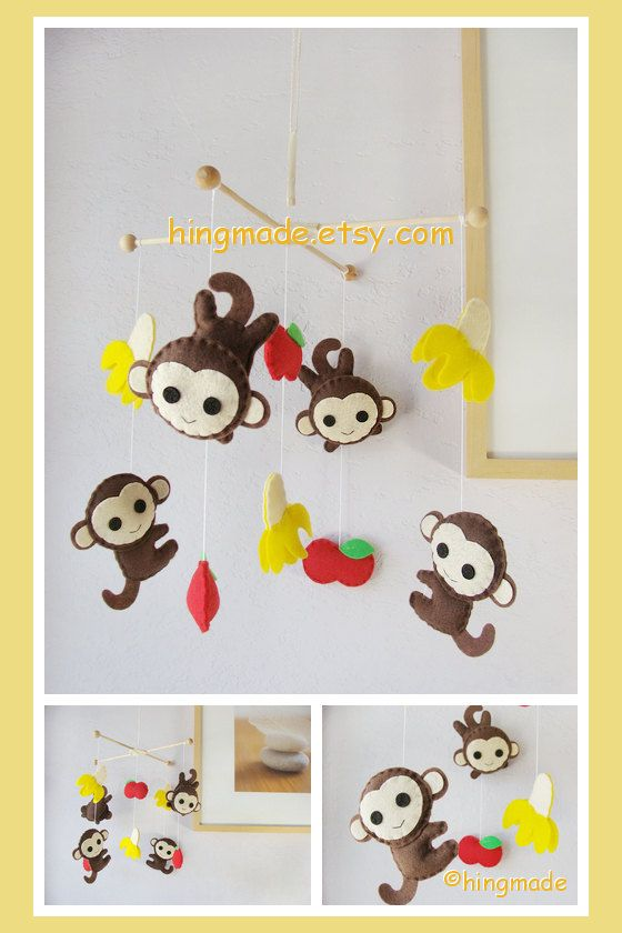 Baby Mobile Monkey Mobile Baby Crib Mobile Tropical