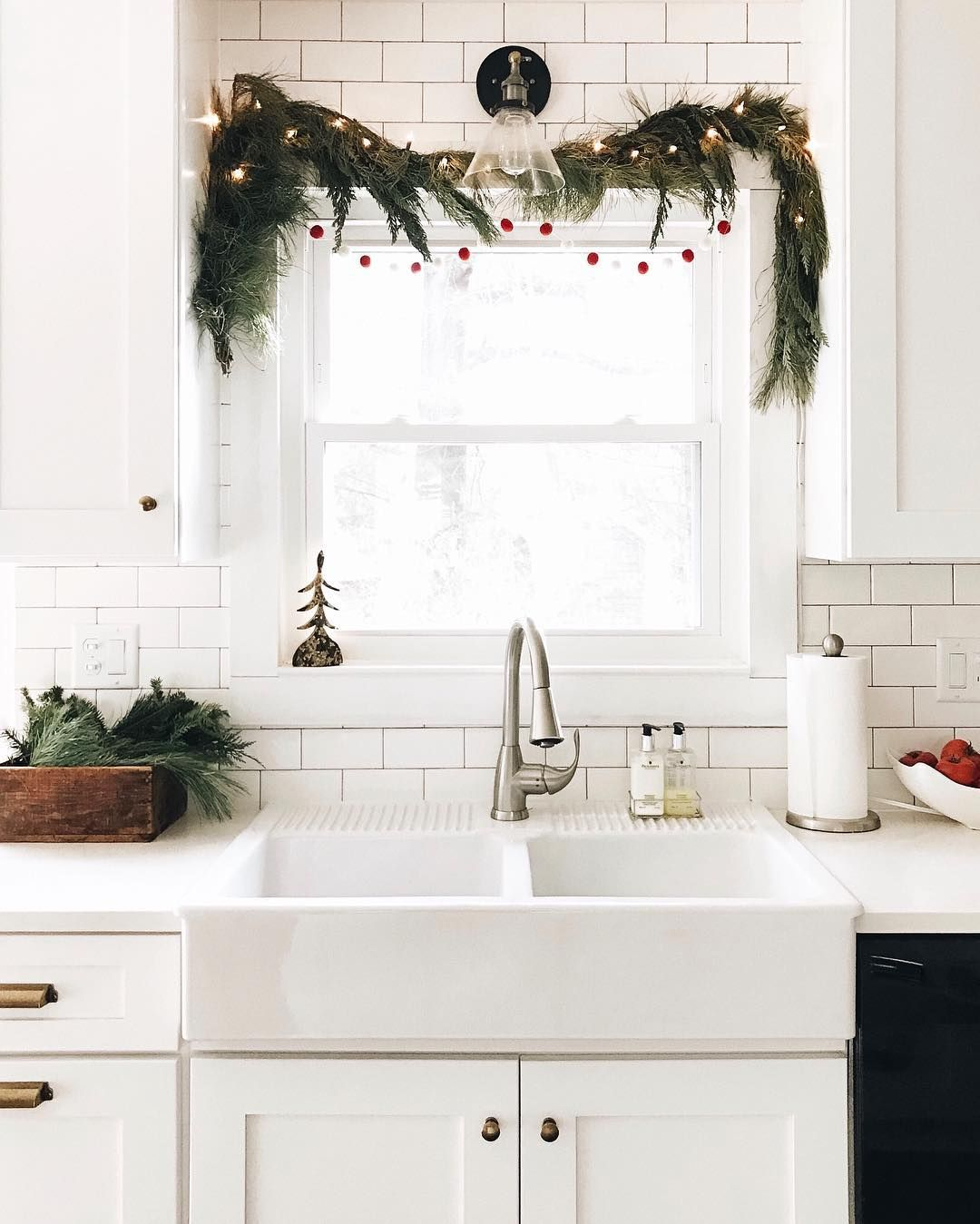 Above the window decor  how to affordably decorate every room for the holidays  itus the